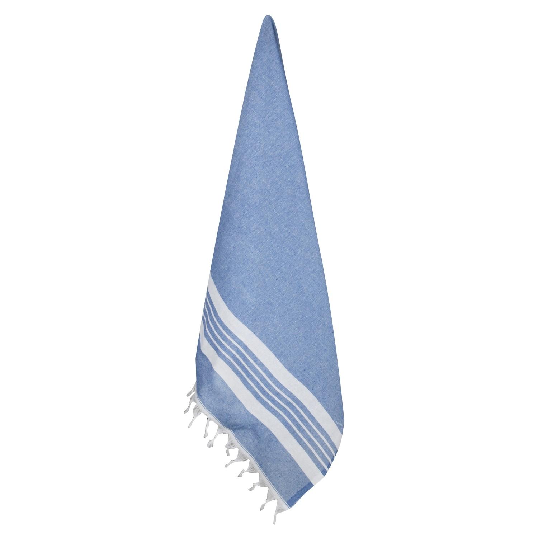 Recyceltes Hamam-Handtuch Blau