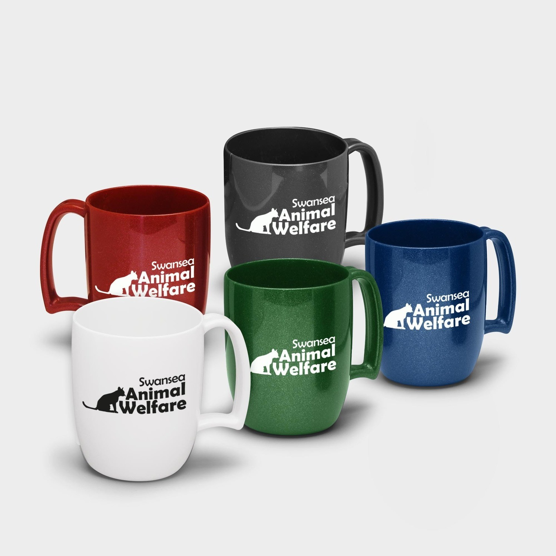 Kaffeetasse aus recyceltem Kunststoff 330ml