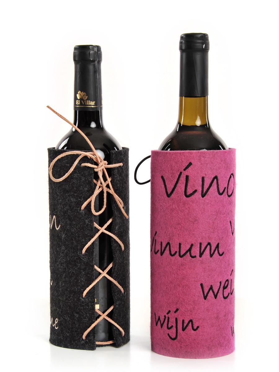 Weinflaschen-Hülle Schnürli
