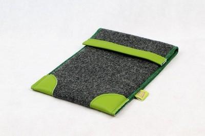 Tablet-Tasche aus übergebliebenen Textilien