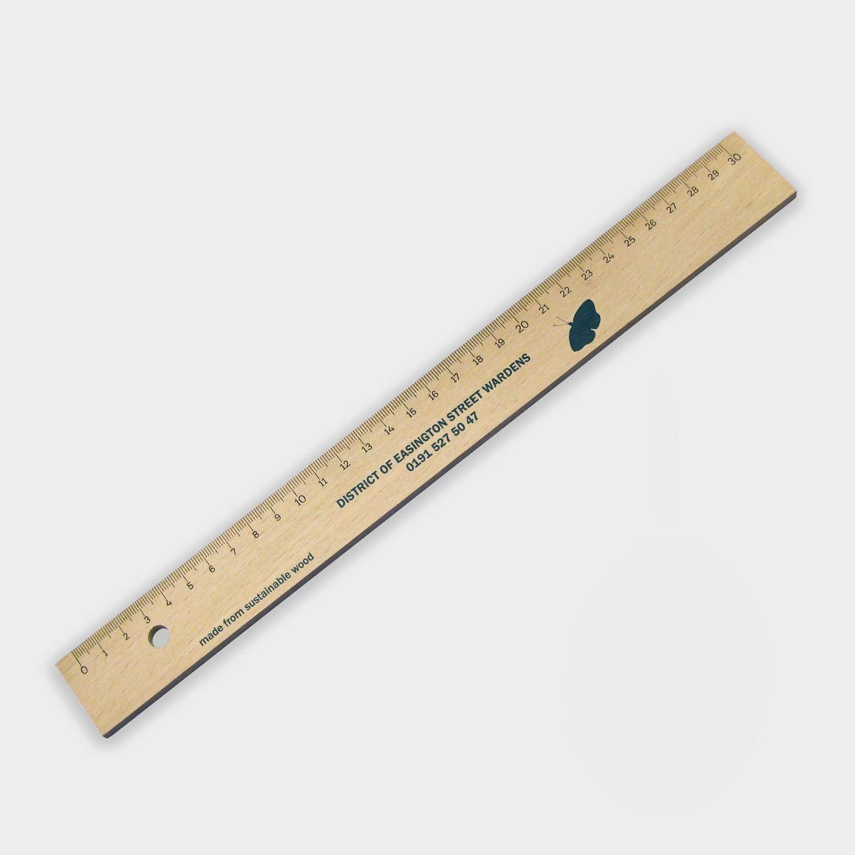 Holzlineal 30cm - unbehandelte Buche