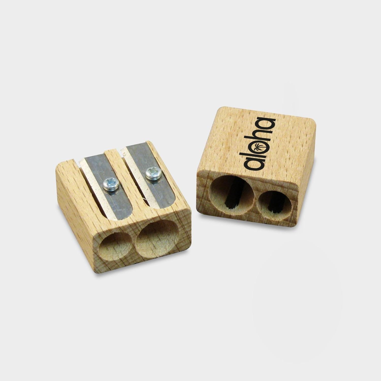 Doppelanspitzer aus Holz