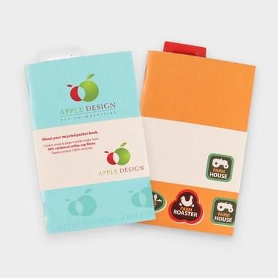 Notizbuch aus recycelten Kaffee-To-Go-Bechern A6
