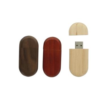 USB Stick aus Holz mit Kappe
