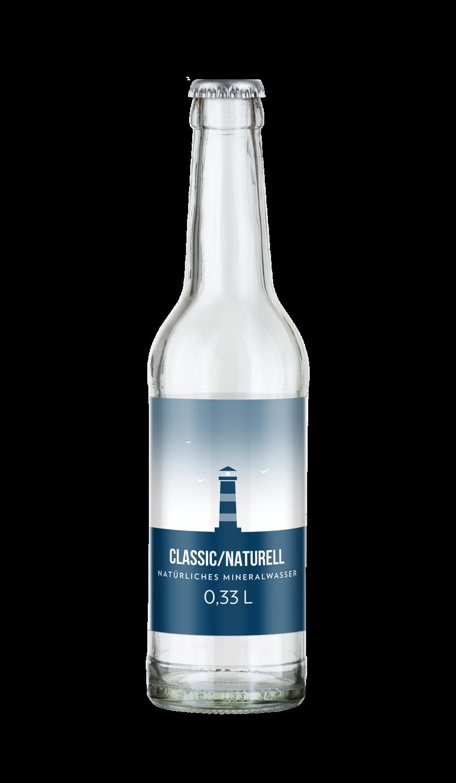 Wasser Glasflasche 0,33l