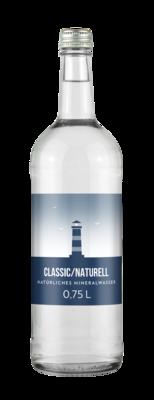 Wasser Glasflasche 0,75l