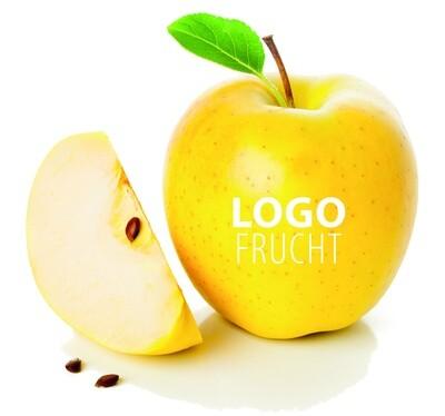 Logo Apfel gelb