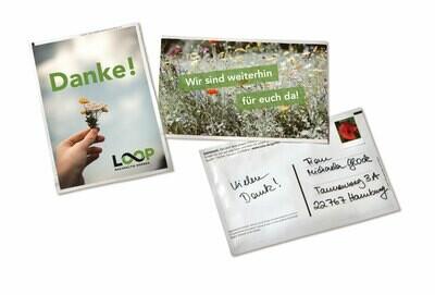 #bleibtzuhause Saatgut-Postkarte