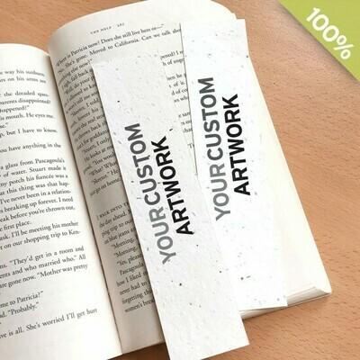 Lesezeichen aus Saatgutpapier