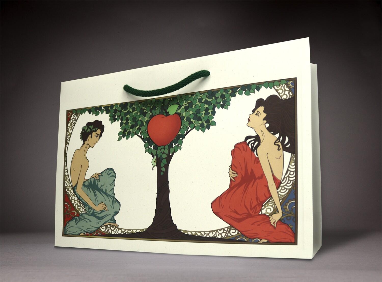 Tragetasche aus Apfelpapier
