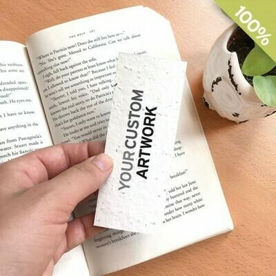 Kleines Lesezeichen aus Saatgutpapier