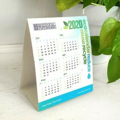 Tischkalender aus Saatgutpapier