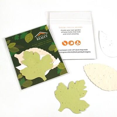 Kräuter-Saatgutpapier