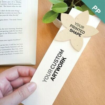 Lesezeichen mit Saatgutpapier