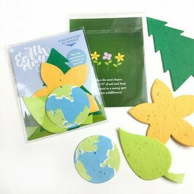 Wildblumen-Saatgutpapier