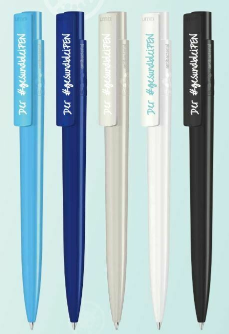Antibakterieller Kugelschreiber aus rPET
