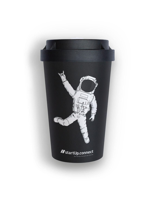 Coffee-to-go Mehrwegbecher schwarz 0,4l