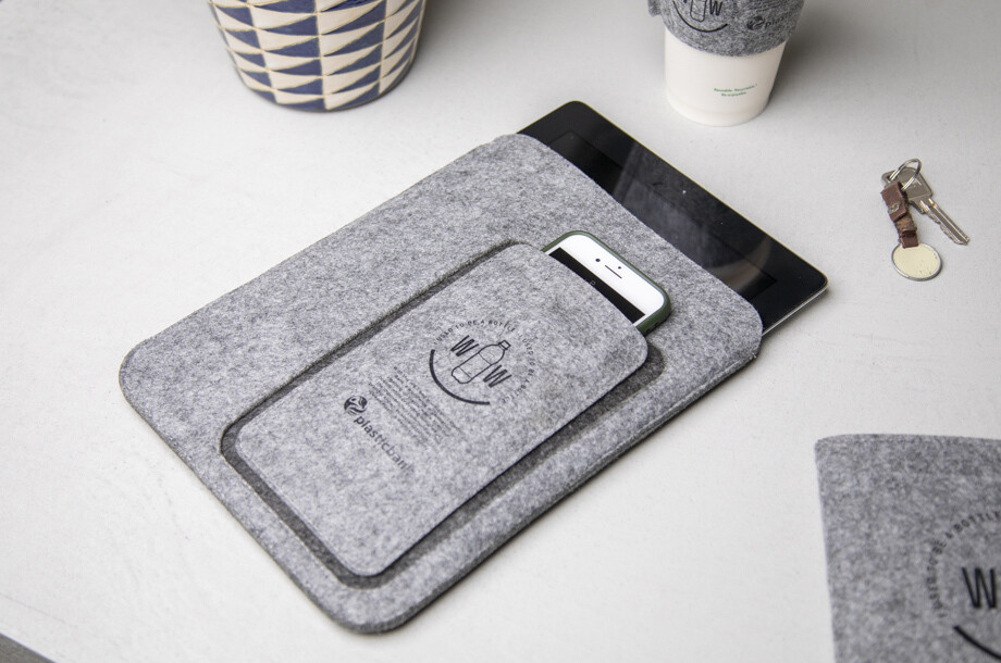 Tablet- & Handyhülle aus recycelten PET-Flaschen