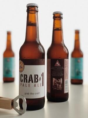 Craft Beer mit Logo - Crab #1 Pale Ale 0,33l