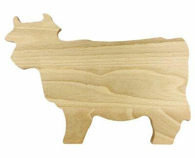 Holzbrett Kuh