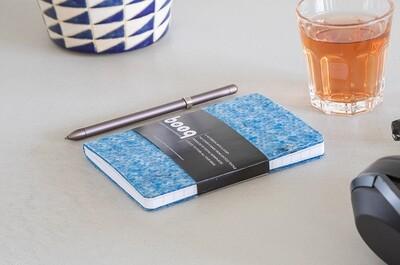 Notizbuch aus recycelten Textilien