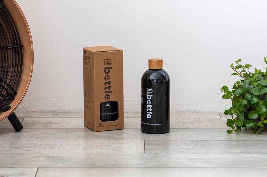 rPET Flasche schwarz 0,5l