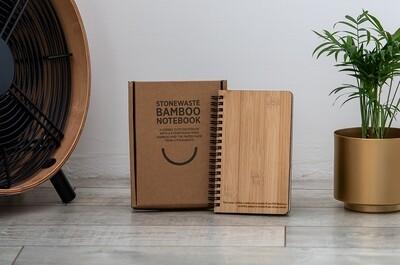 Notizbuch aus Bambus und Stein-Papier