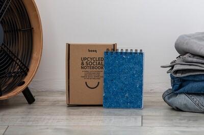 Ring-Notizbuch aus recycelten Textilien