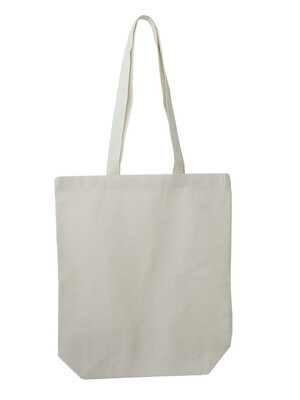 Fairtrade Baumwollbeutel mit Taschenboden 150g/m²