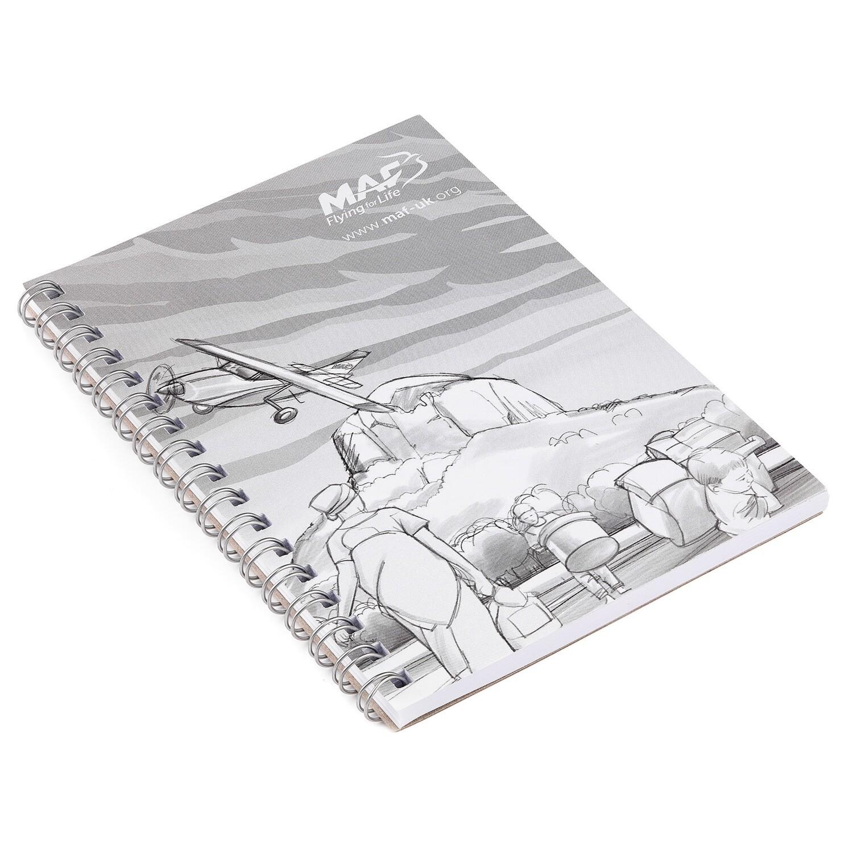 Notizbuch A6 - recycelt und mit Ringbindung