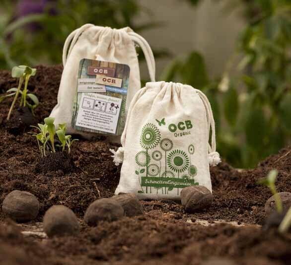 Seedbomb im Baumwollbeutel (5 Stück)