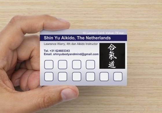 10x Lesson Card Aikido