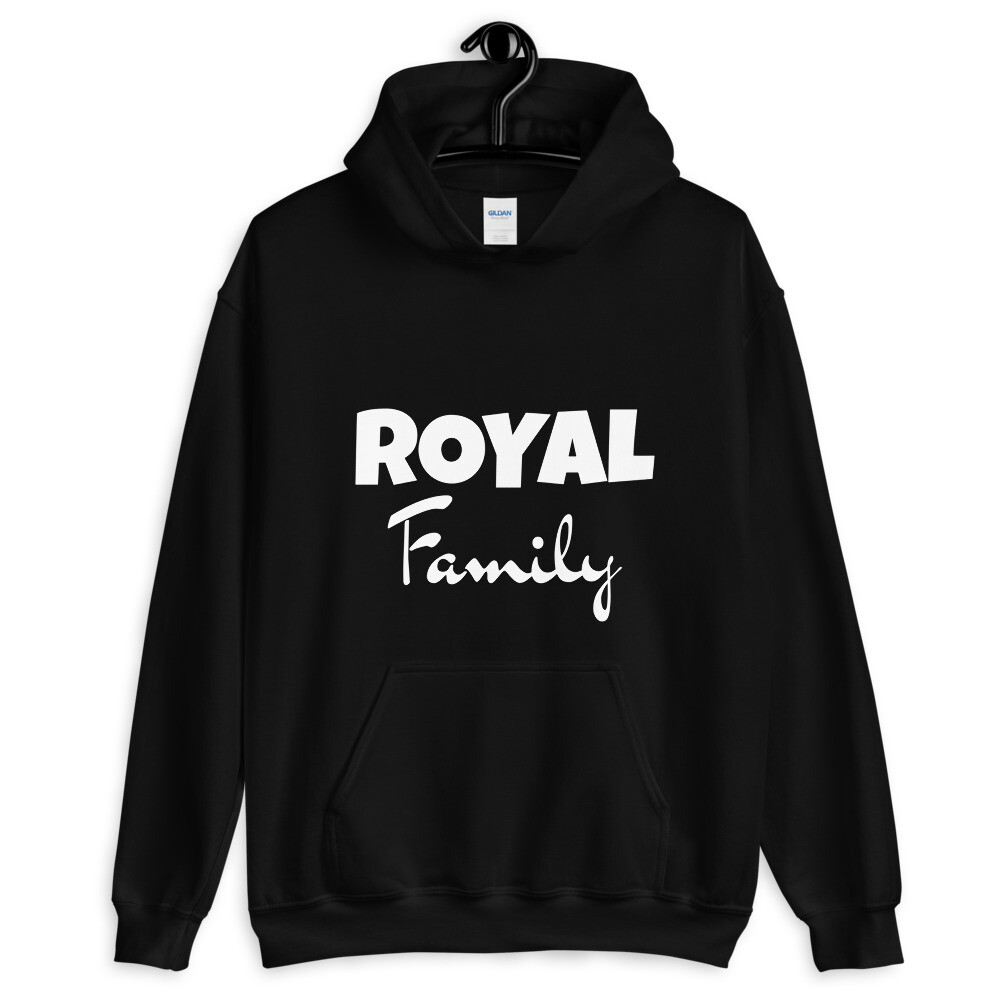 Royal Family (White Print) Unisex Hoodie (With Custom Name On Back)