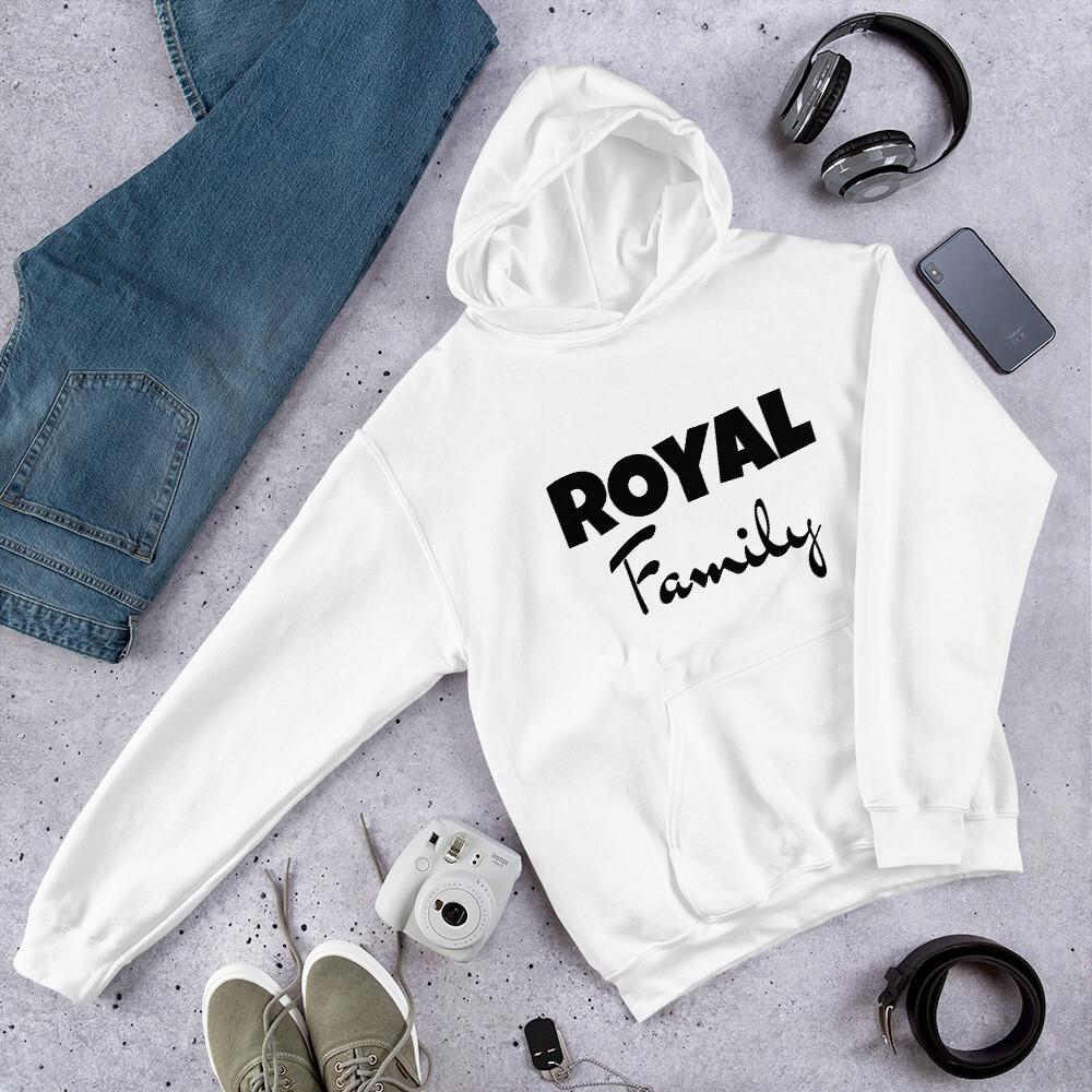 Royal Family (Black Print) Unisex Hoodie (With Custom Name On Back)