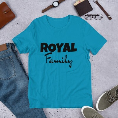 COLORED Royal Family Short-Sleeve Unisex T-Shirt (With Custom Name On Back)