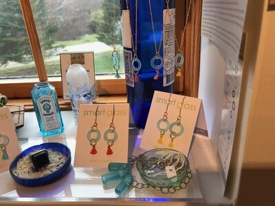 Recycled Glass - Earrings and Necklaces