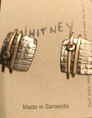 Now $10 Off    Silver, Brass Earrings - Whitney Designs