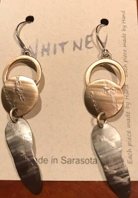 Sterling and Brass Earrings - Whitney Designs