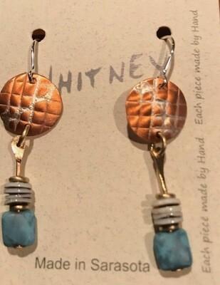 Silver, Nickel, Brass Amazonia Earrings