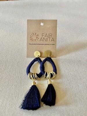 Threaded Tassel Earrings - India