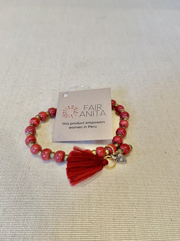 Ceramic Tassel Bracelet - Peru