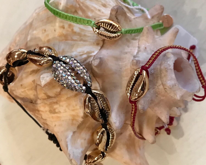 Adjustable Seashell Bracelets