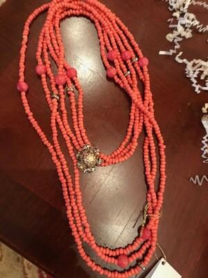 Orange Beads Necklace - VDesigns