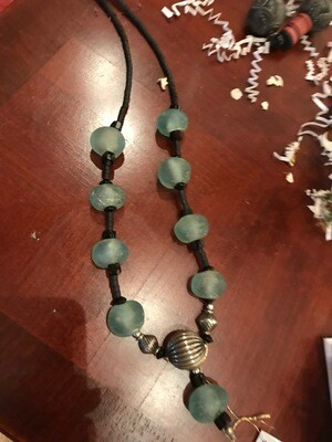 African Trade Bead Necklace - Senegal