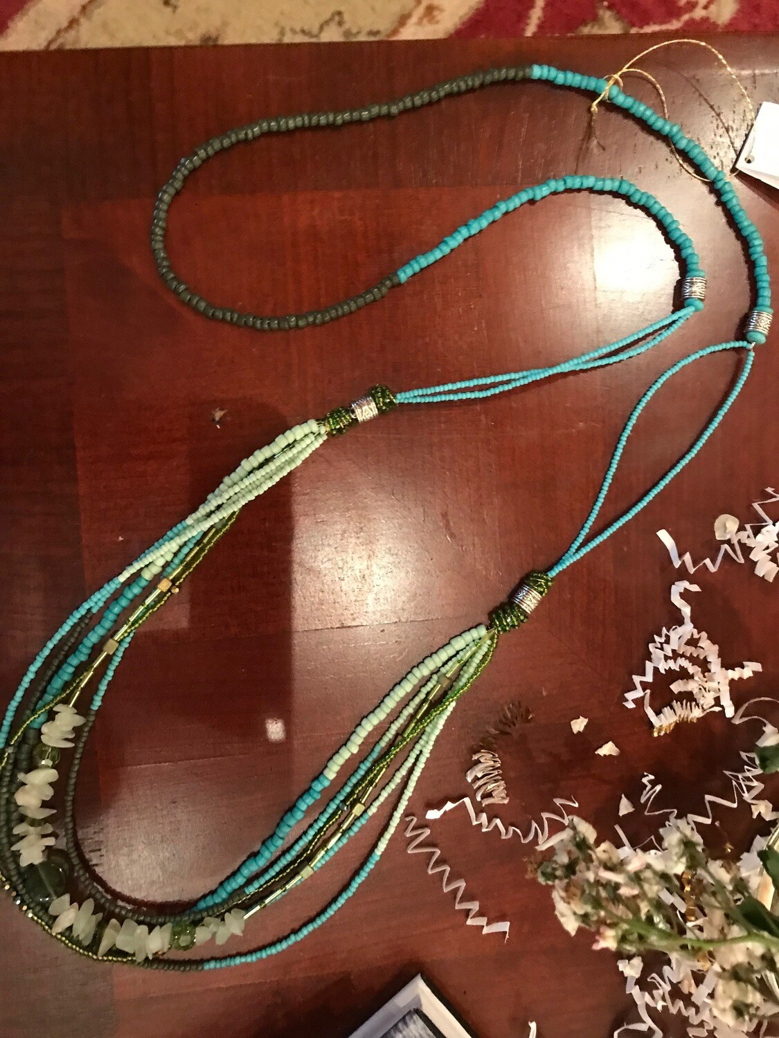 Czech Crystals & Glass Bead Necklace - VDesigns