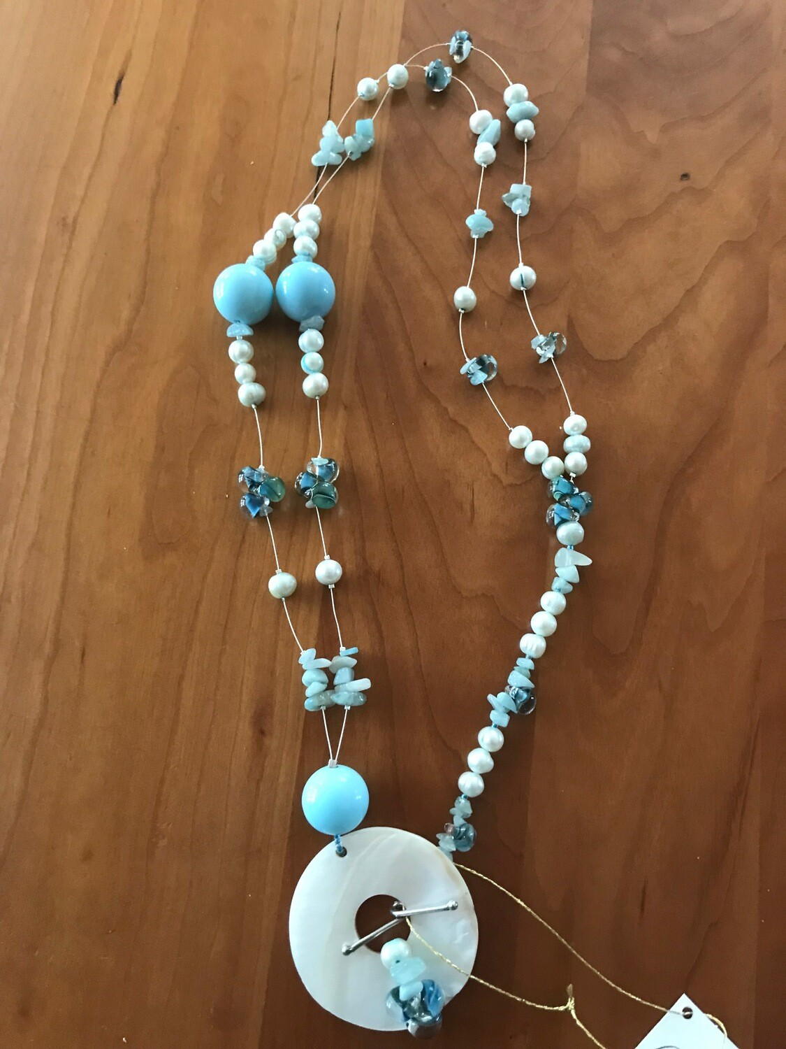 Mother of Pearl Necklace - Twist Clasp - VDesigns