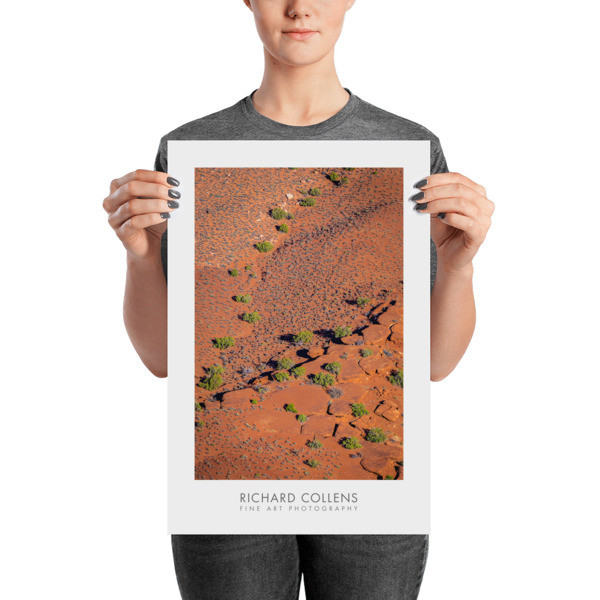 Abstract of the Canyonlands Floor - Richard Collens Ad Poster