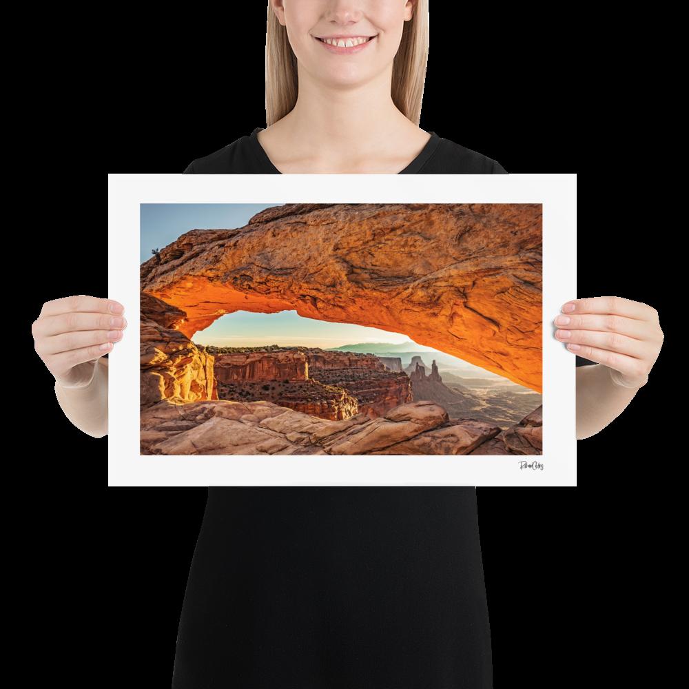 """Fine Art Print: """"Through Mesa Arch"""""""