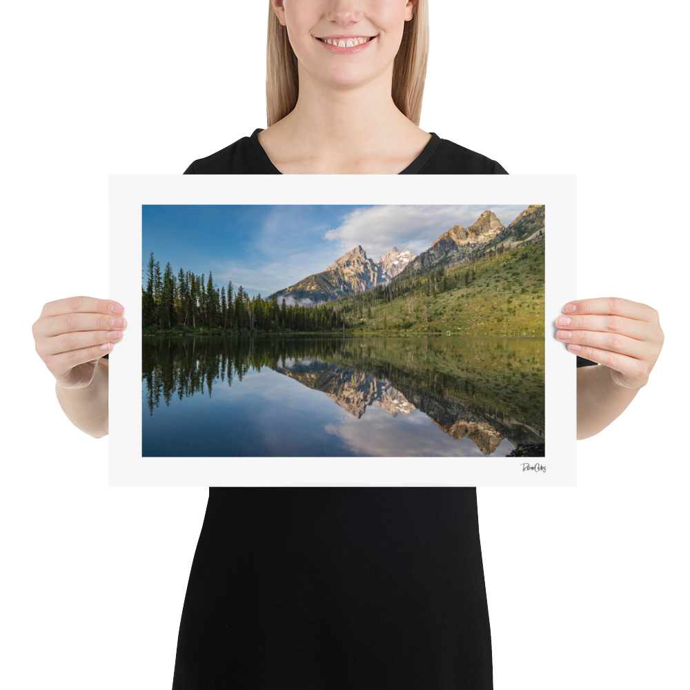 "Fine Art Print: ""Reflection of the Tetons"""