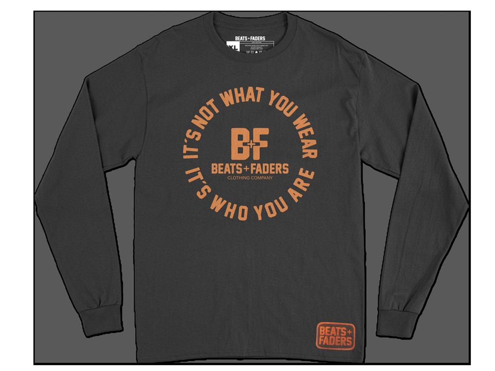 Beats + Faders™ Slogan Unisex Long Sleeve Tee